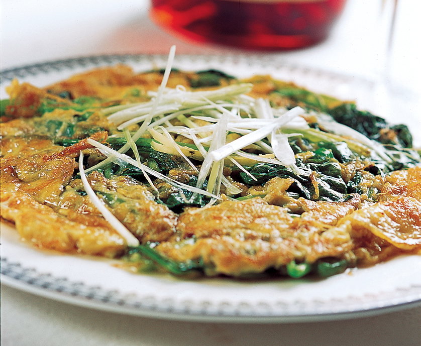 Egg Spinach Pancake